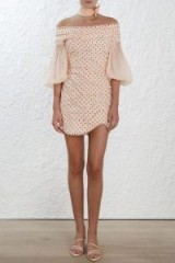 Zimmermann Painted Heart Contour Mini Dress