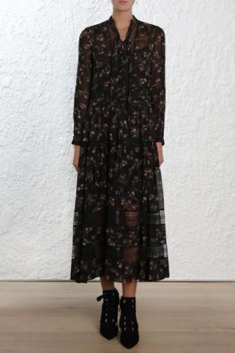 Zimmermann Radiate Tie Up Dress