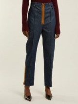 HILLIER BARTLEY Zipper-trimmed high-rise jeans ~ denim redux