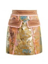 PETER PILOTTO A-line floral-brocade mini skirt | luxe skirts