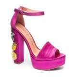 Chinese Laundry ALOHA EMBELLISHED PLATFORM SANDAL Hot Pink – tropical heel embellishments – party platforms