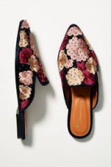 Anthropologie Studded Violet Slides in Plum – luxe flats
