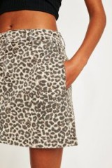 BDG Leopard Print Twill Mini Skirt. WILD ANIMAL PRINTS