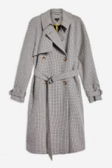 Topshop Belted Check Print Trench Coat | stylish autumn outerwear