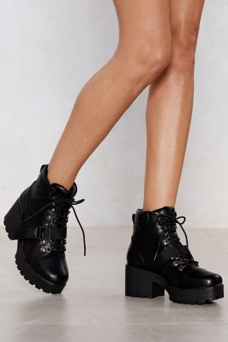 Nasty Girl Block My World Faux Leather Boot – chunky platform boots