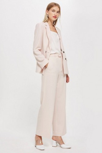 Topshop Blush Slouch Suit – pale pink trouser suits - flipped