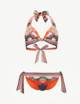 CAMILLA Geisha Girl halterneck bikini – mixed print bikinis