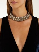 REBECCA DE RAVENEL Carmen crystal-embellished collar ~ luxe statement collars ~ stand-out event accessory
