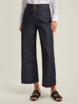 M.I.H JEANS Caron dark-blue high-rise wide-leg jeans ~ denim redux