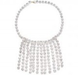 CHRISTOPHER KANE Crystals Fringed Choker ~ glamorous statement necklace ~ event glamour