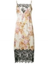 CHRISTOPHER KANE valence cami dress | luxe lace trim floral slip