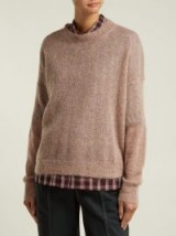 ISABEL MARANT ÉTOILE Cliftony pink mohair-blend round neck sweater ~ casual luxe knitwear