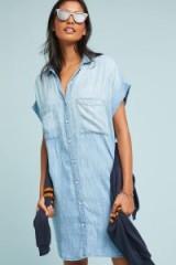 Cloth & Stone Ginny Shirtdress in Denim Light | blue short sleeved shirt dress