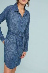 Cloth & Stone Printed Chambray Shirtdress | patterned denim shirt dress