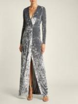 GALVAN Cloud silver hammered velvet gown ~ luxe event wear