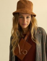 stradivarius Corduroy bucket hat in brown | autumn accessory | autumnal colours