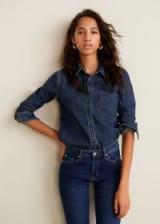 MANGO Dark denim shirt in navy / casual wardrobe staple