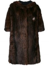 FAITH CONNEXION faux fur coat in brown / vintage style