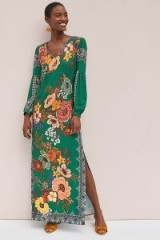 Farm Rio Verdor Maxi Dress In Green / long holiday dresses