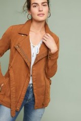 Anthropologie Faux Suede Moto Jacket in Cedar | autumn colours