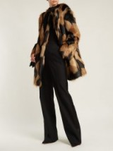 GIVENCHY Black and Brown Faux-fur coat / luxe coats