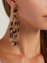 ROSANTICA BY MICHELA PANERO Faville brown beaded chandelier earrings ~ event statement jewellery