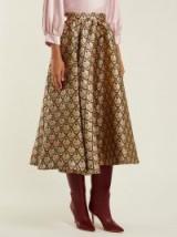 ROCHAS Floral-brocade midi skirt – opulent printed fabrics