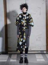JUNYA WATANABE Wool-knit floral-print georgette dress / contemporary design fashion