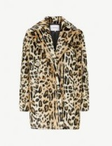 FRAME Cheetah-print faux-fur coat | animal prints | autumn colours