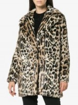 FRAME DENIM Cheetah print faux fur coat / casual glamour