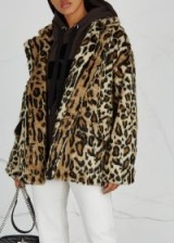 FREE PEOPLE Kate leopard-print faux fur coat / animal prints / fluffy jackets