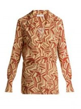 CHLOÉ Geometric-print silk crepe de Chine blouse – retro prints