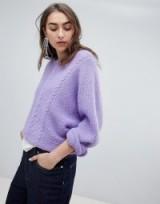 Gestuz adel pullover fluffy jumper purple – soft feel knitwear
