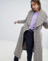 Gestuz welle check coat – wide lapel coats – houndstooth prints