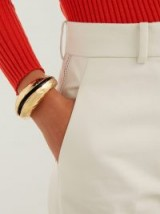 MARNI Hammered gold-tone metal cuff ~ contemporary statement jewellery