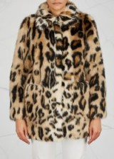 STAND Alexa leopard-print faux fur jacket. BROWN & BLACK ANIMAL PRINTS