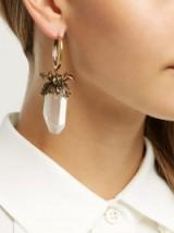 ALEXANDER MCQUEEN Iris crystal pendant drop earrings