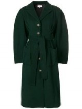 ISA ARFEN Roxie coat in Bottle-Green | autumn colours