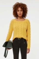 REBECCA MINKOFF Juna Sweater in Yellow | autumn knitwear