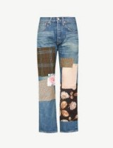 JUNYA WATANABE Contrasting patchwork straight high-rise jeans indigo mix – mixed print patches