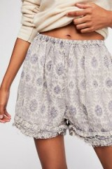 Magnolia Pearl Khloe Shorts in Amethyst / frilly and floral