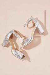 Kiana Metallic-Leather Heels in Silver at Anthropologie