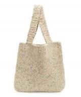 KARAKORAM Knitted Flecked Wool-Blend Tote Bag | neutral tone bags