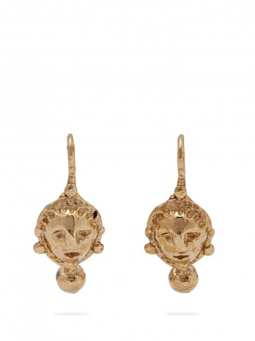 OANNE BURKE Lady Flower Leaves drop earrings – luxe jewellery accessory