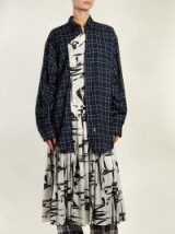 BALENCIAGA Layered cotton and silk shirtdress