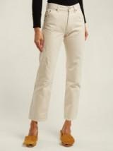 JACQUEMUS Le Jean cream straight-leg jeans