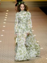 DOLCE & GABBANA Leaf-print chiffon gown ~ beautiful Italian clothing