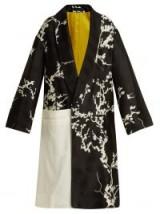 HAIDER ACKERMANN Leonotis cherry-blossom jacquard coat ~ chic outerwear