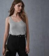 REISS LILIAN METALLIC KNITTED TOP SILVER ~ essential luxe knitwear