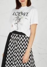 LOEWE Off-white printed cotton T-shirt / logo print tee